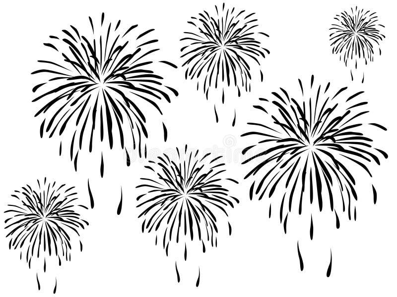 Fuochi d'artificio royalty illustrazione gratis