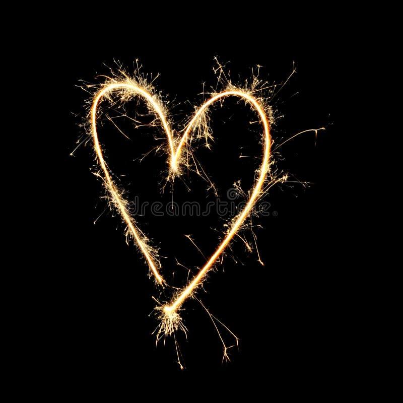 Fuochi d'artificio: Amore fotografie stock