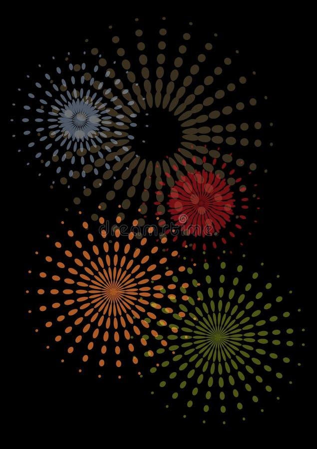 Fuochi d'artificio astratti royalty illustrazione gratis