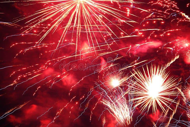 Fuochi d'artificio astratti fotografie stock libere da diritti