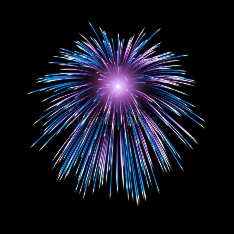 Fuochi d'artificio che esplodono in cielo immagini stock