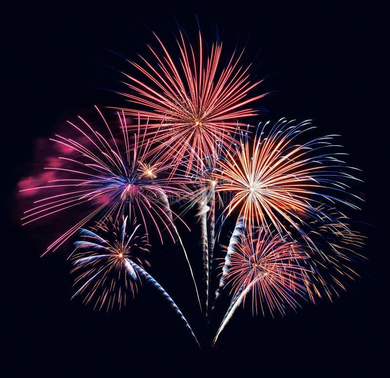 Fuochi d'artificio cinque fotografia stock