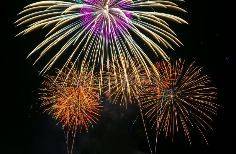 Fuochi d'artificio Colourful fotografia stock