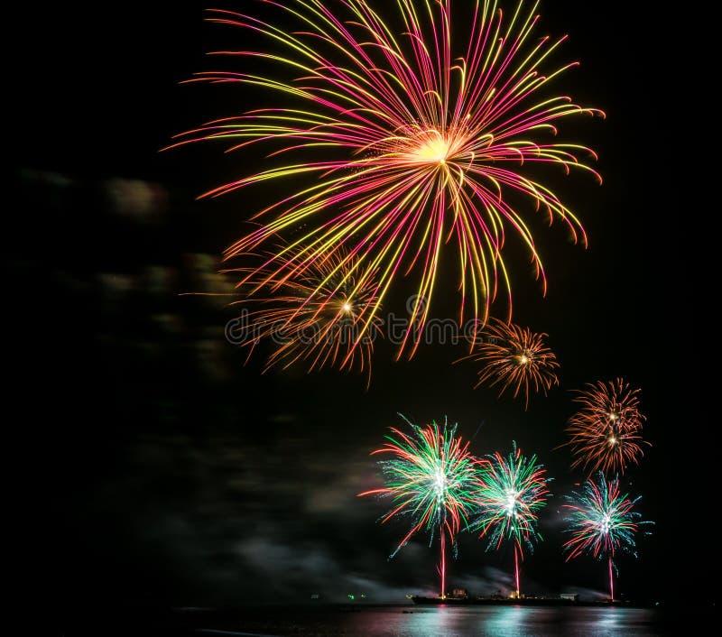 Fuochi d'artificio Colourful fotografie stock libere da diritti