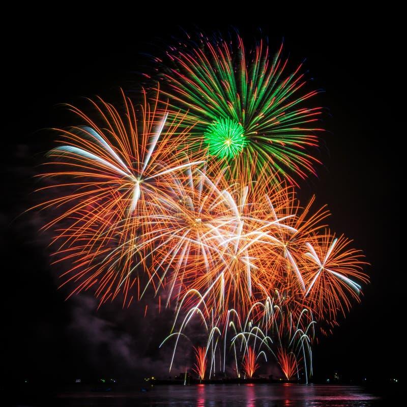 Fuochi d'artificio Colourful immagini stock