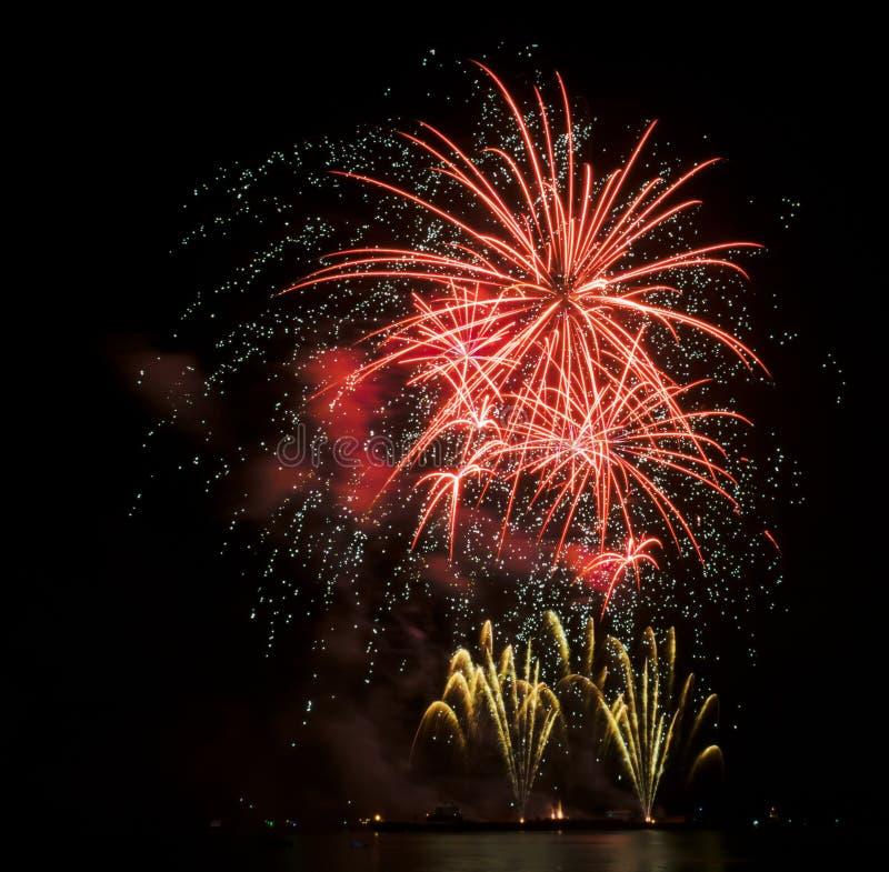 Fuochi d'artificio Colourful fotografia stock libera da diritti