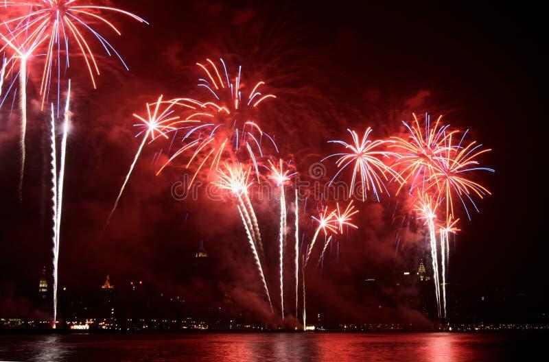 Fuochi d'artificio del Macy immagine stock