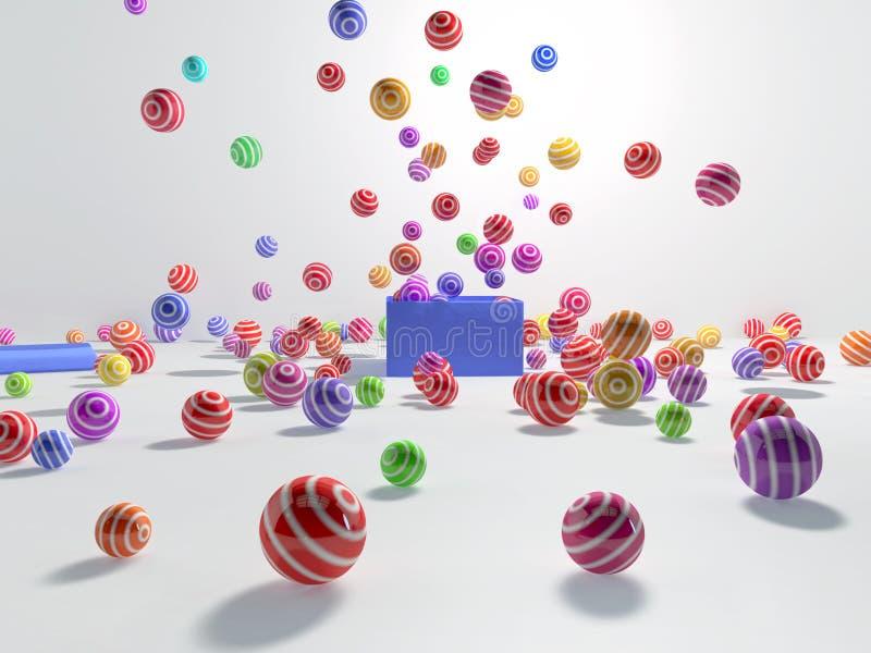 Fuochi d'artificio delle palle illustrazione vettoriale