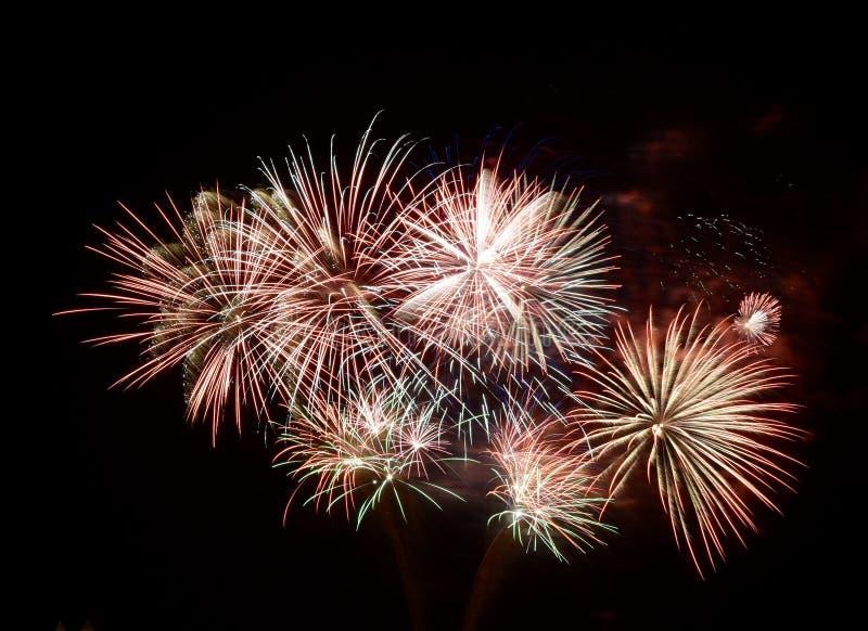 Fuochi d'artificio di estate fotografie stock