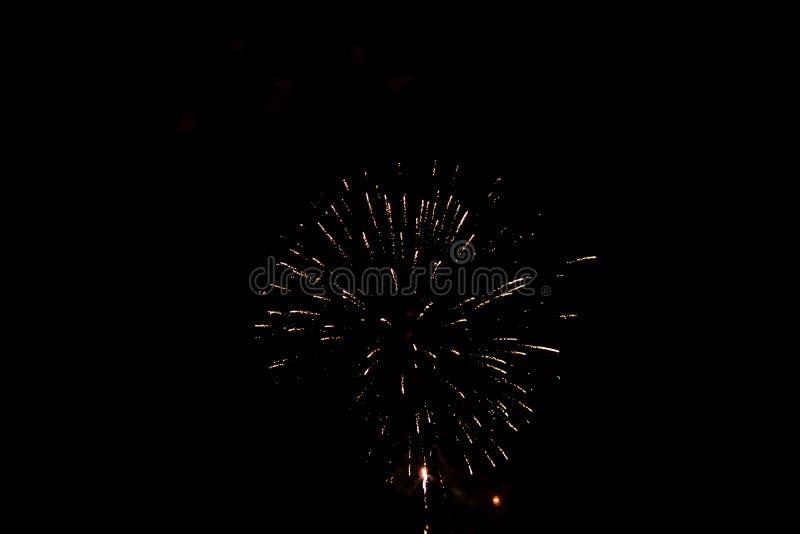 Fuochi d'artificio di festival di festa a Grand Rapids Michigan fotografia stock