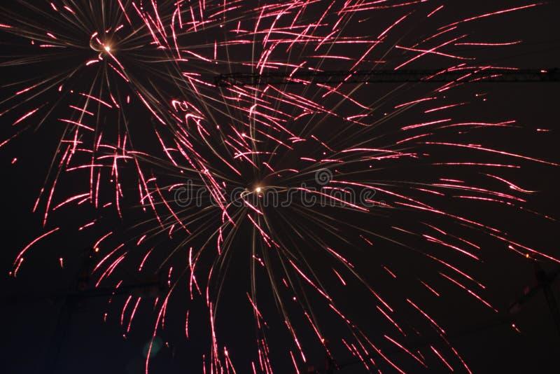 Fuochi d'artificio di nuovo anno fotografia stock libera da diritti