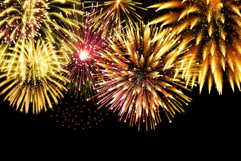Fuochi d'artificio di scintillio per progettazione festiva della scintilla fotografia stock libera da diritti