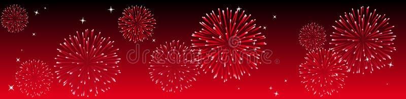 Fuochi d'artificio di vettore royalty illustrazione gratis