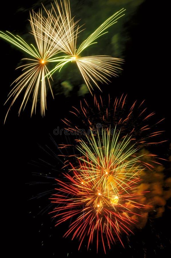 Fuochi d'artificio festivi fotografie stock