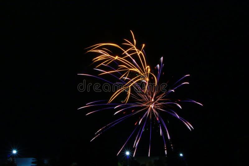 Fuochi d'artificio il giorno del Canada in Stittsville 3 fotografie stock libere da diritti