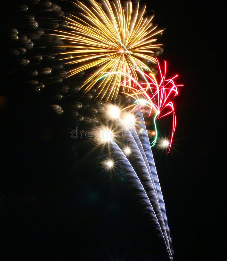 Fuochi d'artificio il giorno del Canada in Stittsville 1 fotografia stock