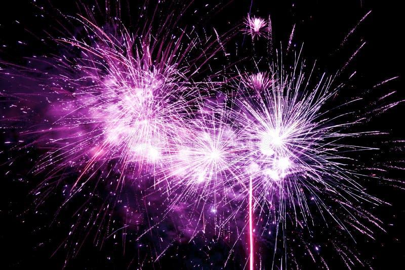 Fuochi d'artificio isolati su fondo nero