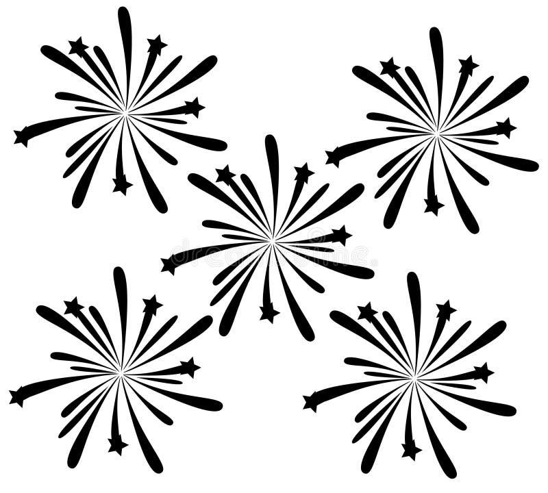 Fuochi d'artificio neri royalty illustrazione gratis