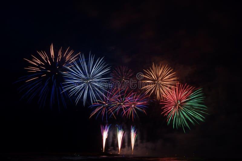 Fuochi d'artificio a Scheveningen Paesi Bassi immagini stock libere da diritti
