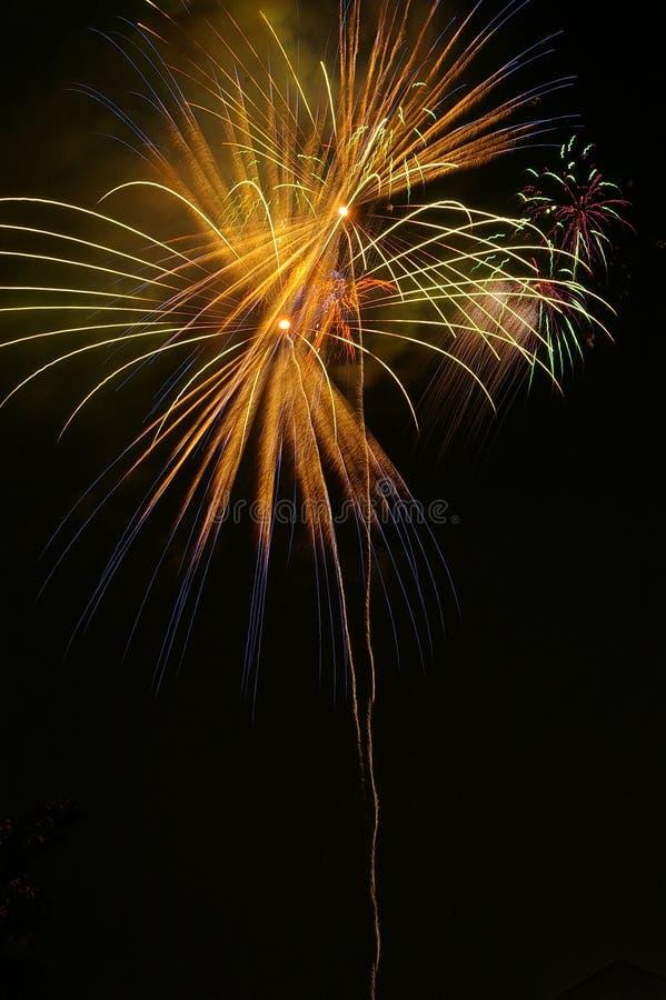 Fuochi d'artificio - striatura fotografia stock