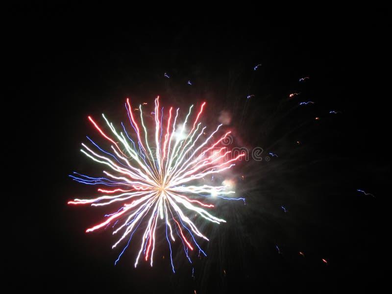 Fuochi d'artificio stupefacenti fotografia stock