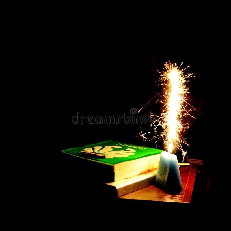 Fuochi d'artificio sul compleanno immagini stock libere da diritti