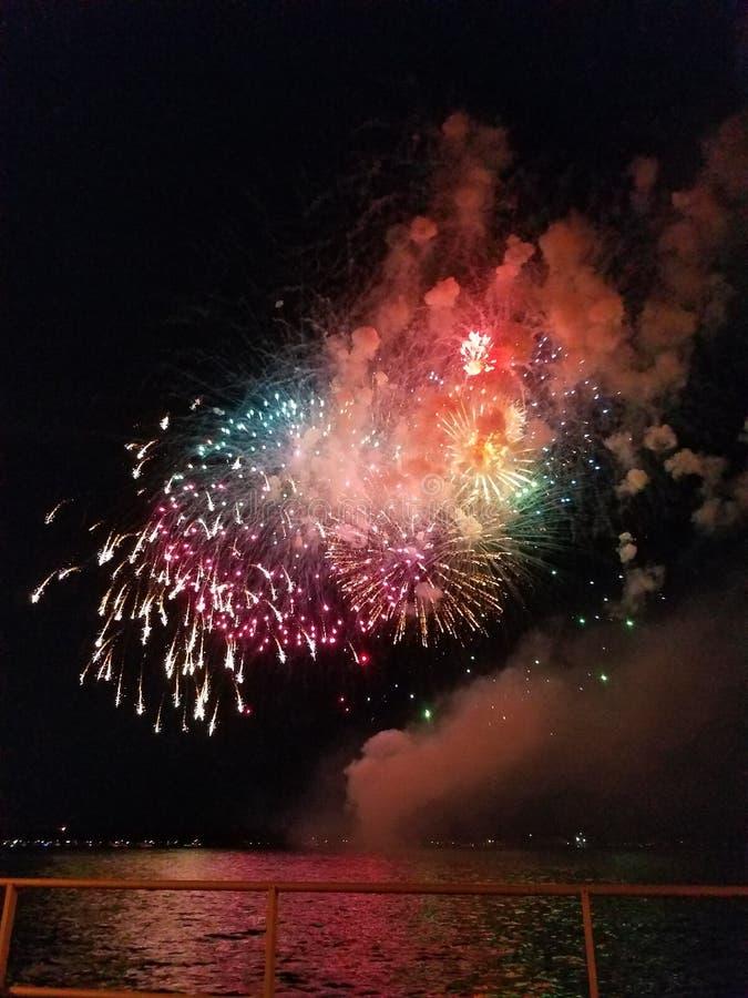 Fuochi d'artificio sul quarti fotografie stock