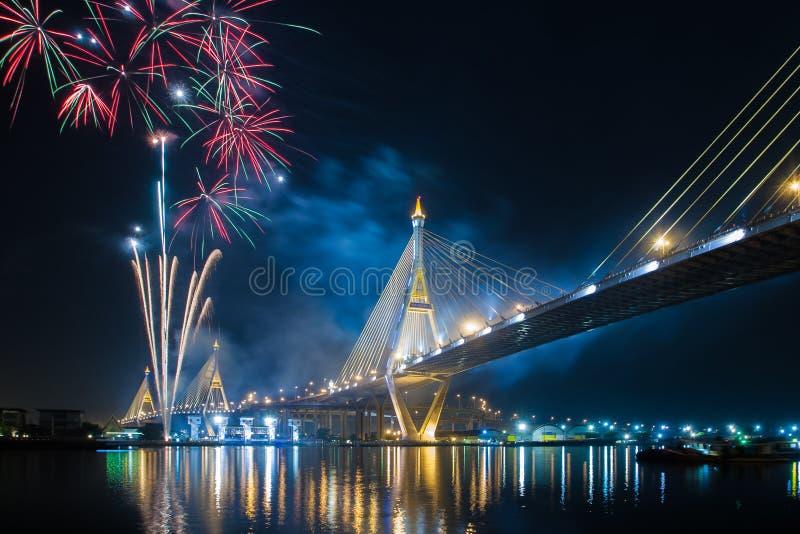 Fuochi d'artificio in Tailandia immagine stock