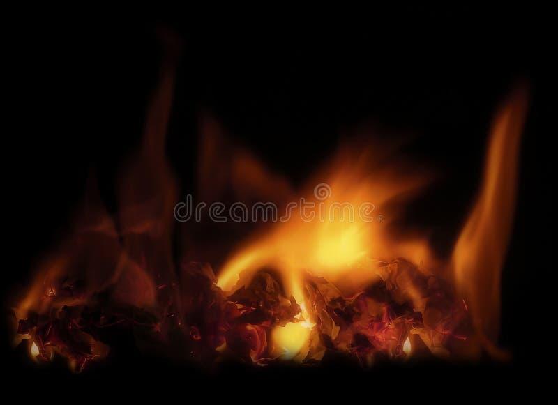 Download Fuoco fotografia stock. Immagine di yellow, bruciarsi, nero - 450028