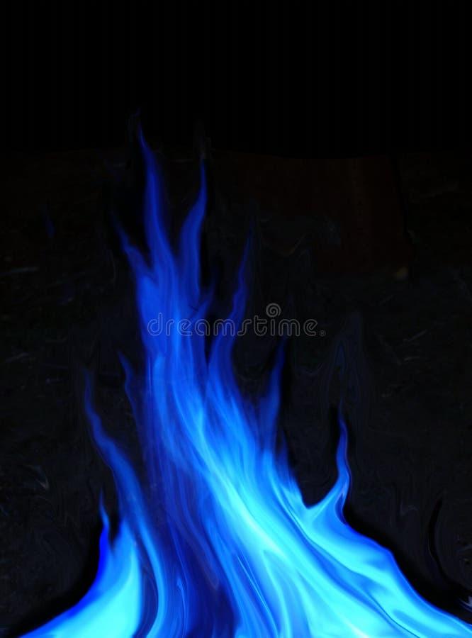 Fuoco blu illustrazione di stock