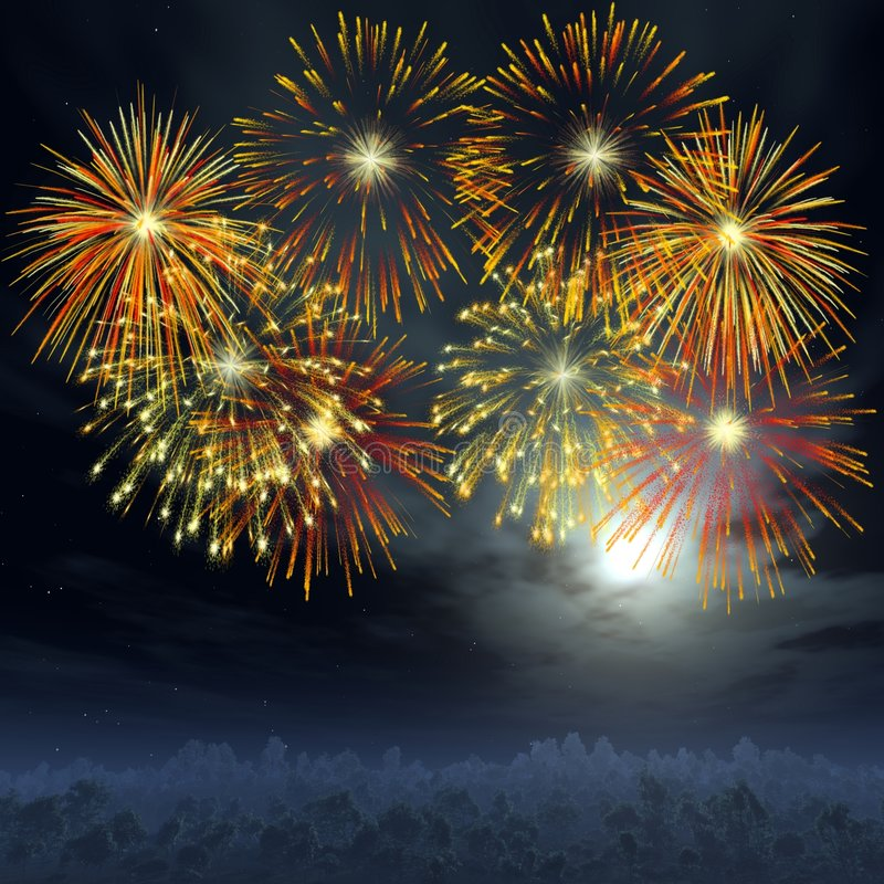 Fuoco d'artificio royalty illustrazione gratis