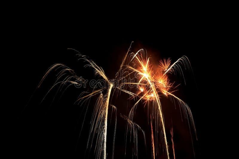 fuoco d'artificio di notte immagine stock libera da diritti