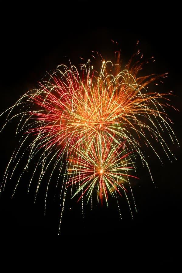 Fuoco d'artificio naturale con lo spazio della copia illustrazione di stock