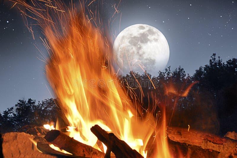 Fuoco del campo nella luce della luna