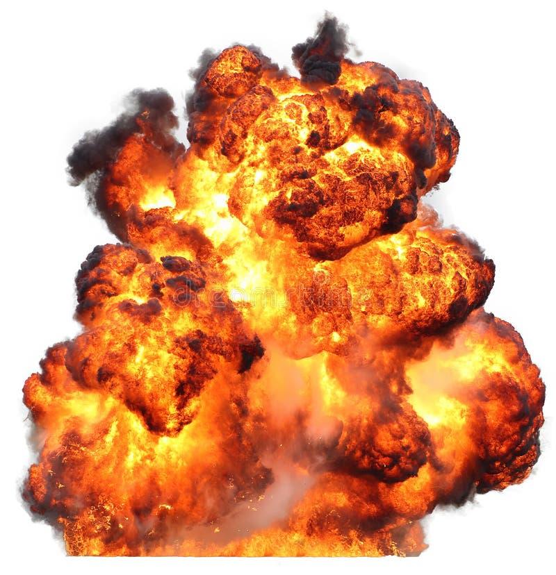Fuoco dell'inferno del bolide di esplosione immagine stock