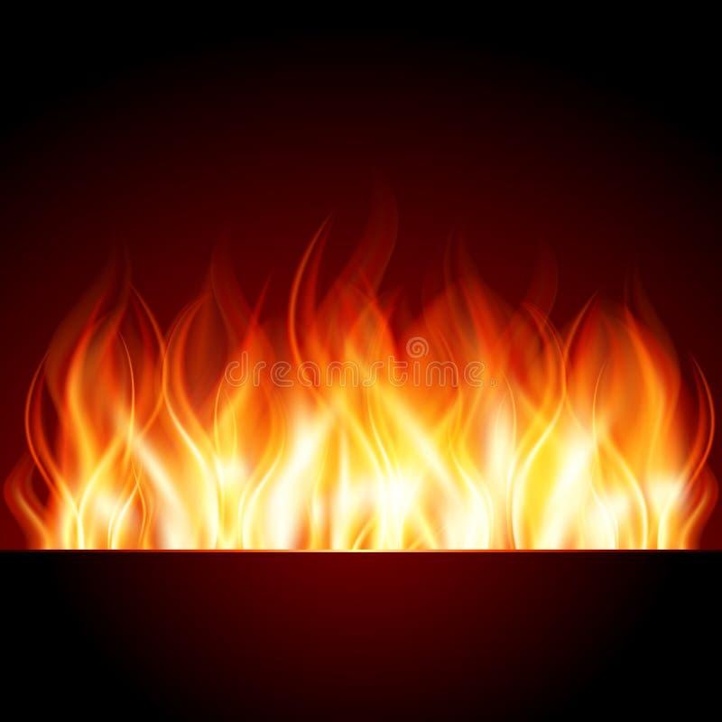 Fuoco della fiamma dell'ustione illustrazione di stock