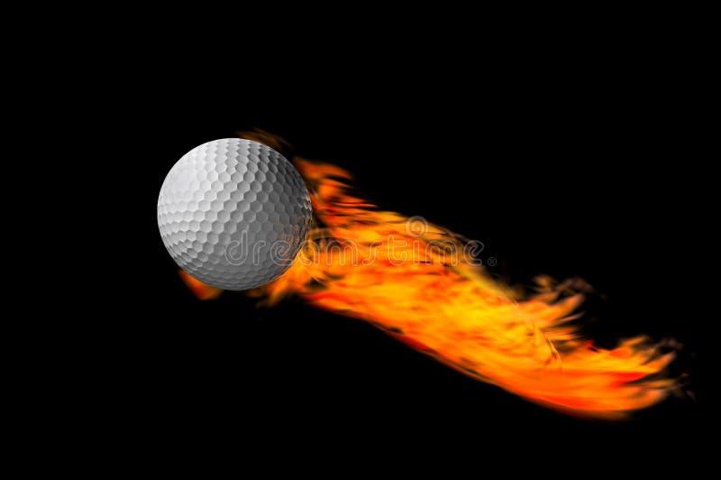 Fuoco della sfera di golf illustrazione vettoriale