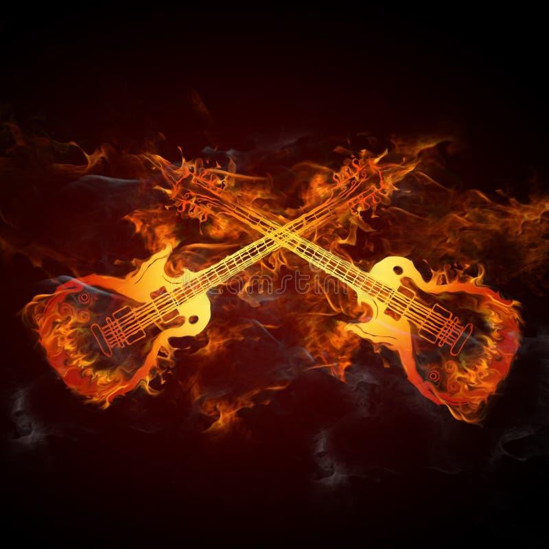 Fuoco delle chitarre royalty illustrazione gratis