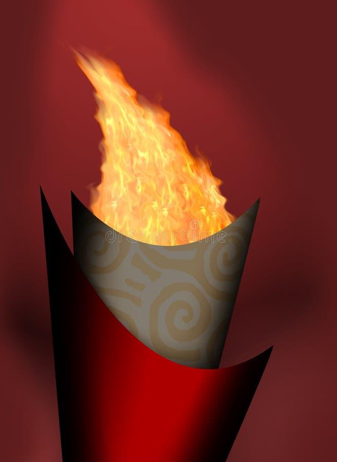 Fuoco di Olimpic illustrazione di stock