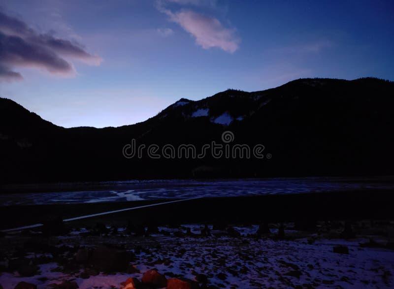 Fuoco di tramonto immagine stock