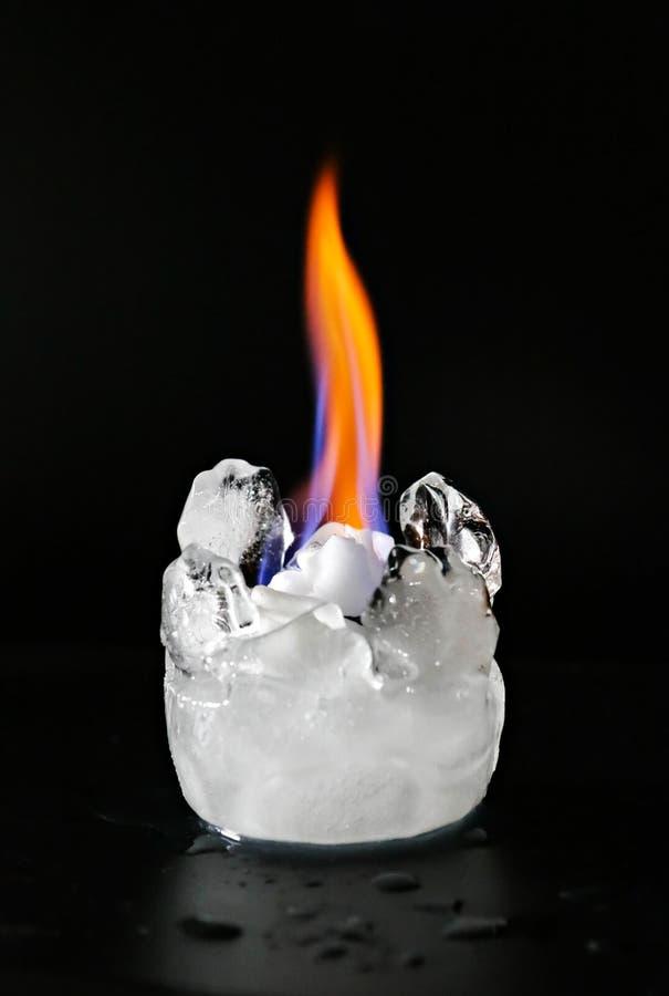 Fuoco e ghiaccio fotografia stock