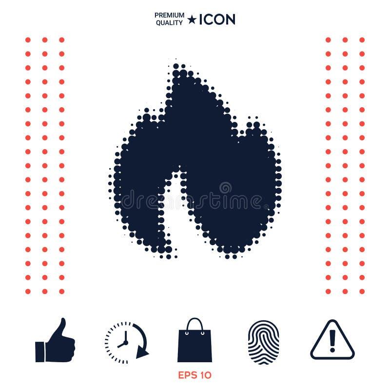 Download Fuoco, Fiamma - Logo Di Semitono Illustrazione Vettoriale - Illustrazione di logotype, falò: 117975062