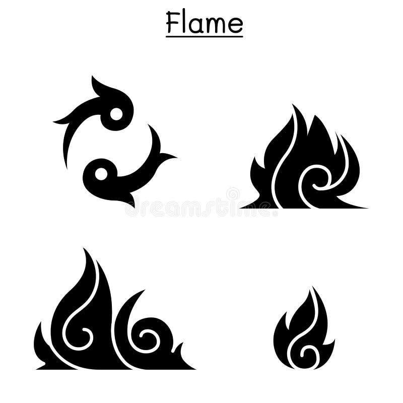 Fuoco, fiamma, ustione illustrazione di stock