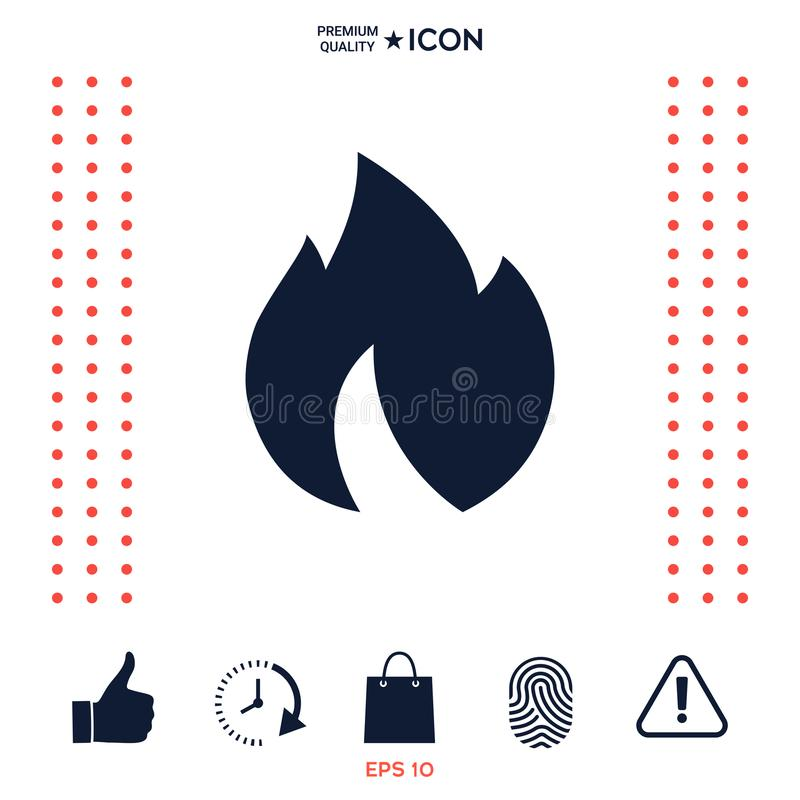 Download Fuoco, icona della fiamma illustrazione vettoriale. Illustrazione di passione - 117975052