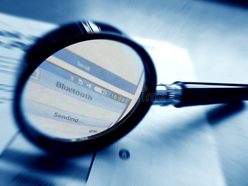 Fuoco su tecnologia del bluetooth immagine stock libera da diritti