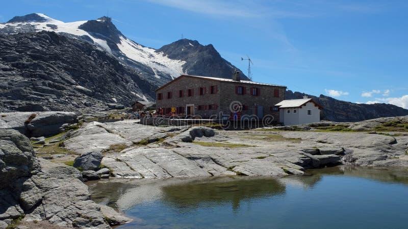 Fuorcla Surlej in de zomer, Augustus 2014 (Engadin, Graubunden, Zwitserland) royalty-vrije stock foto's