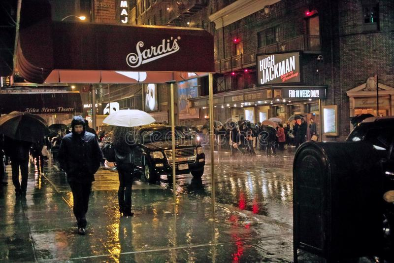Fuori da Broadway, New York 23 novembre 2011 fotografie stock libere da diritti