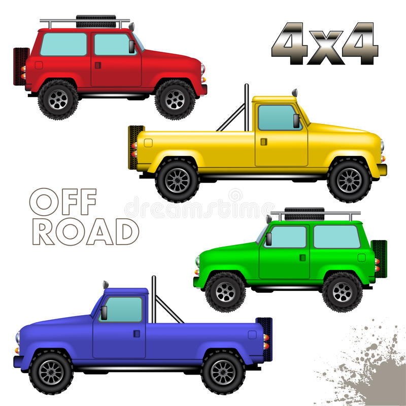 Fuori dai veicoli stradali royalty illustrazione gratis
