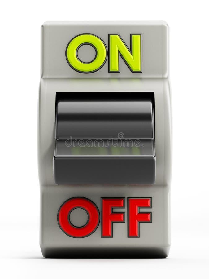 Fuori dal bottone illustrazione di stock