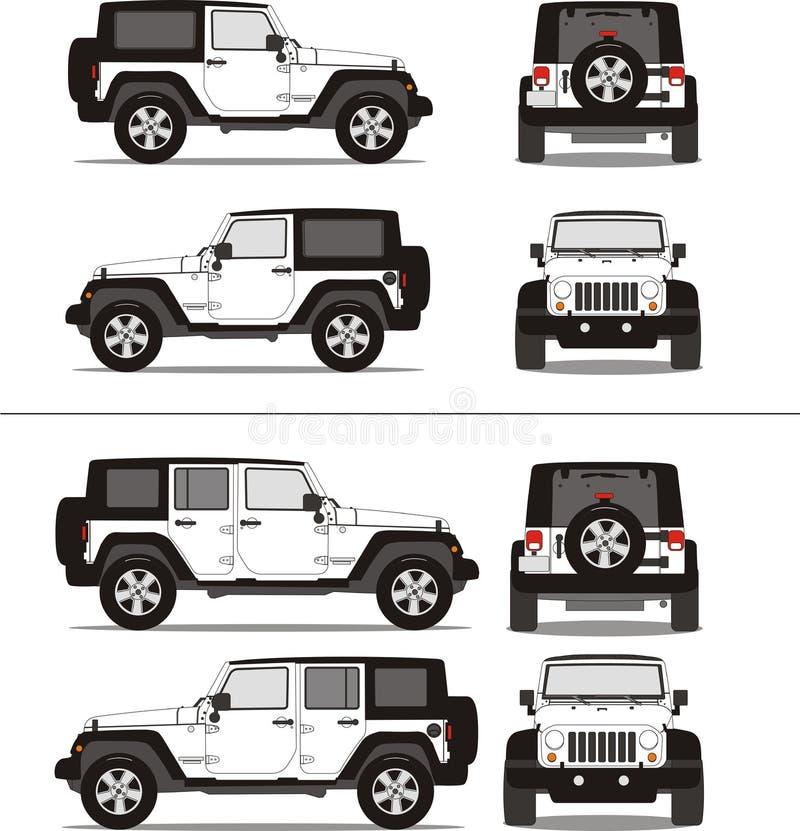 Fuori dal camion di sport della strada SUV illustrazione vettoriale